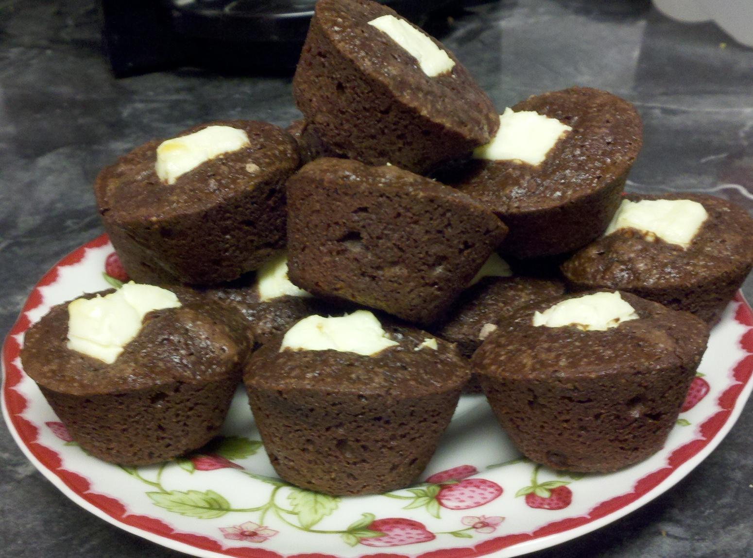 2 Bite Brownies With Cream Cheese Filling Recipe