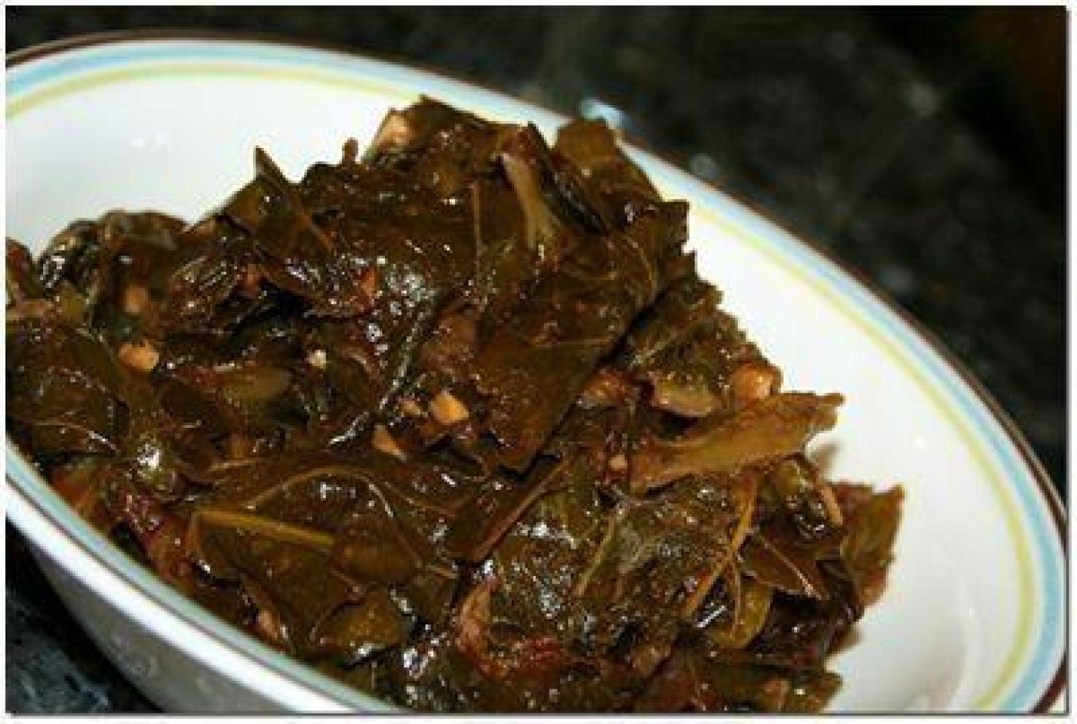 Collard Greens and Rutabegas. Recipe