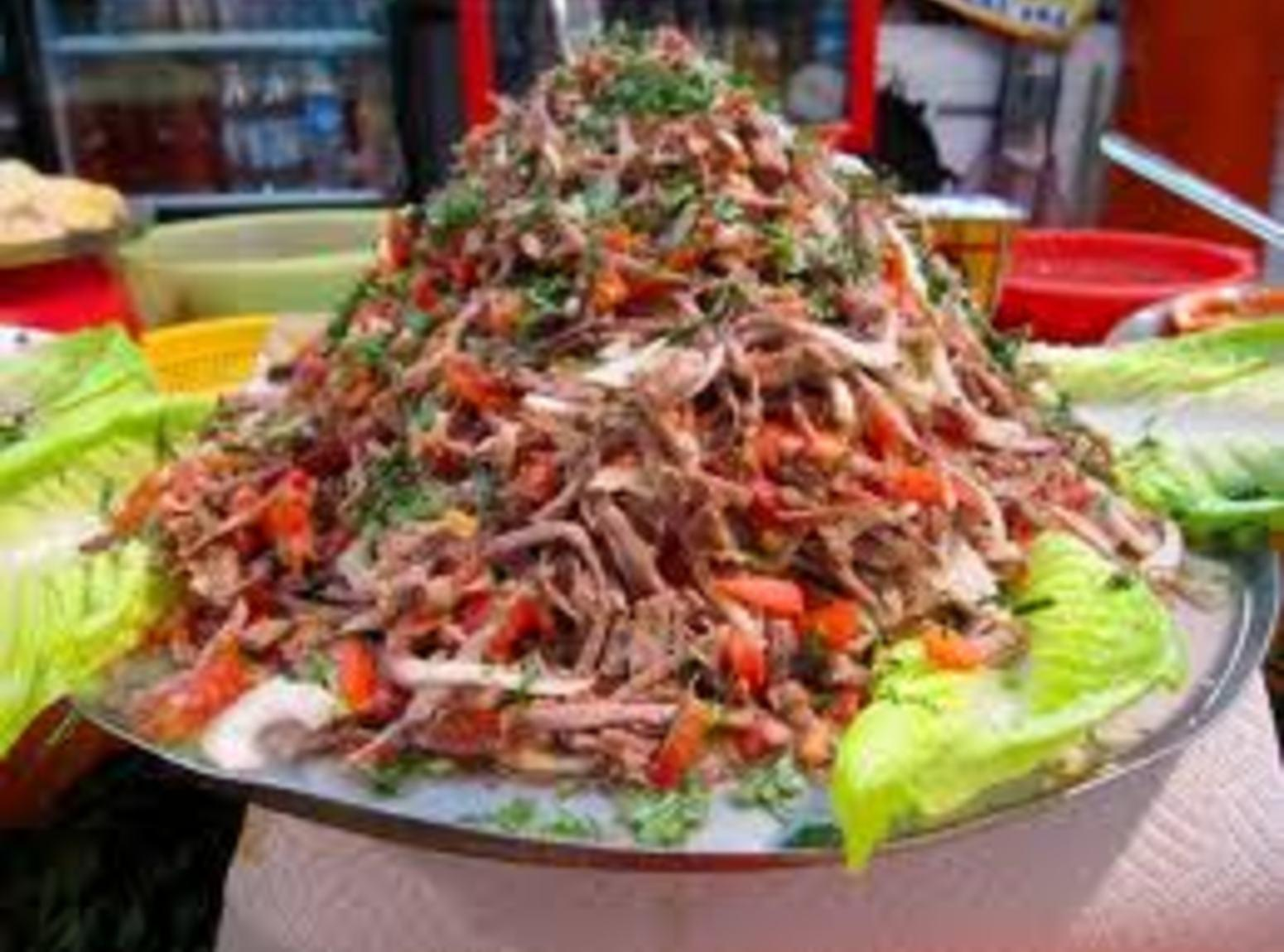 Salpicon de Res Recipe Shredded Beef Salad | Just A Pinch Recipes