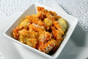 Buffalo Chicken & Creamy Ranch Potato Casserole