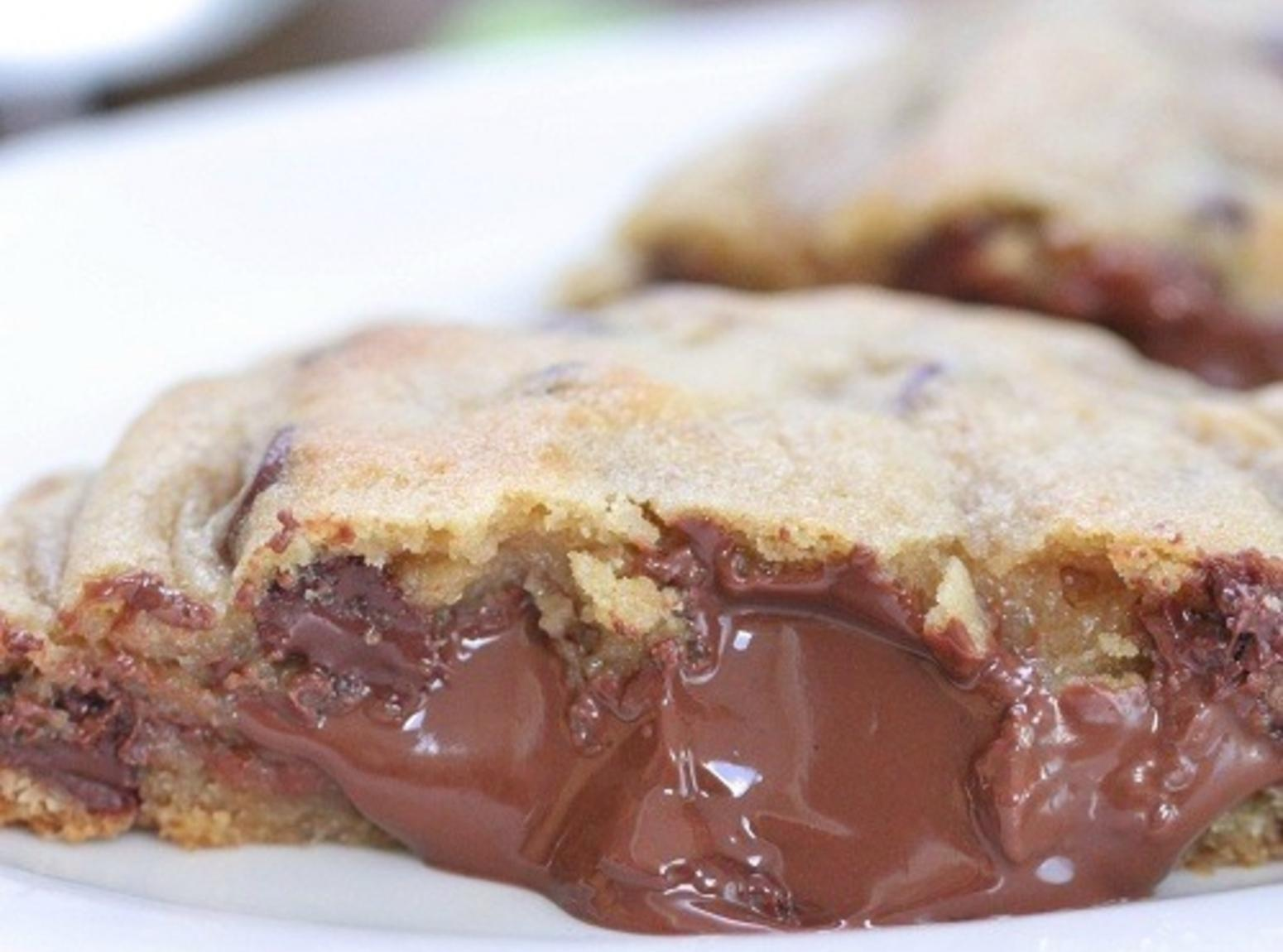 Giant Hershey Kiss Stuffed Chocolate Chip Cookies Recipe | Just A ...