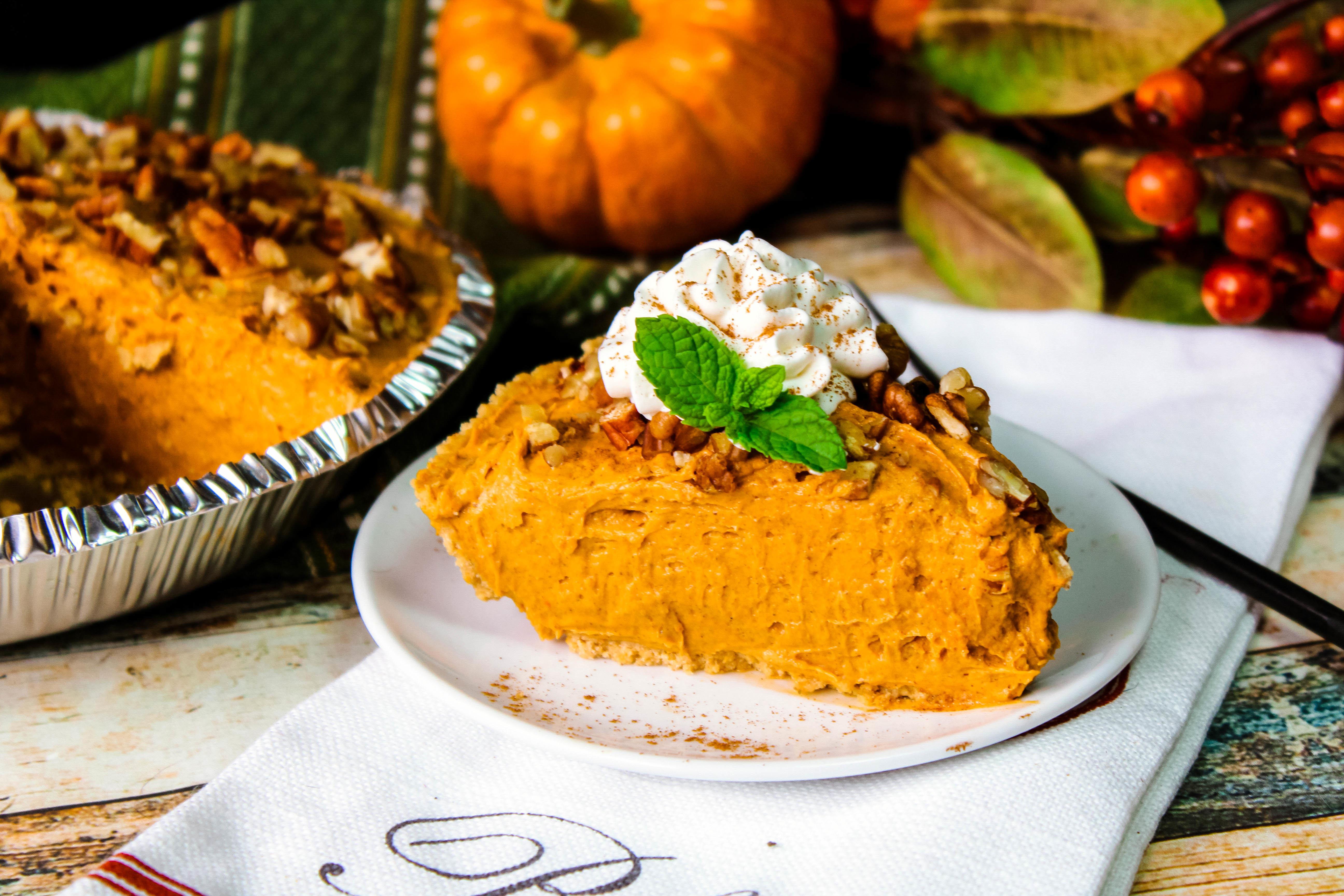 Butterscotch Pumpkin Pudding Cheesecake
