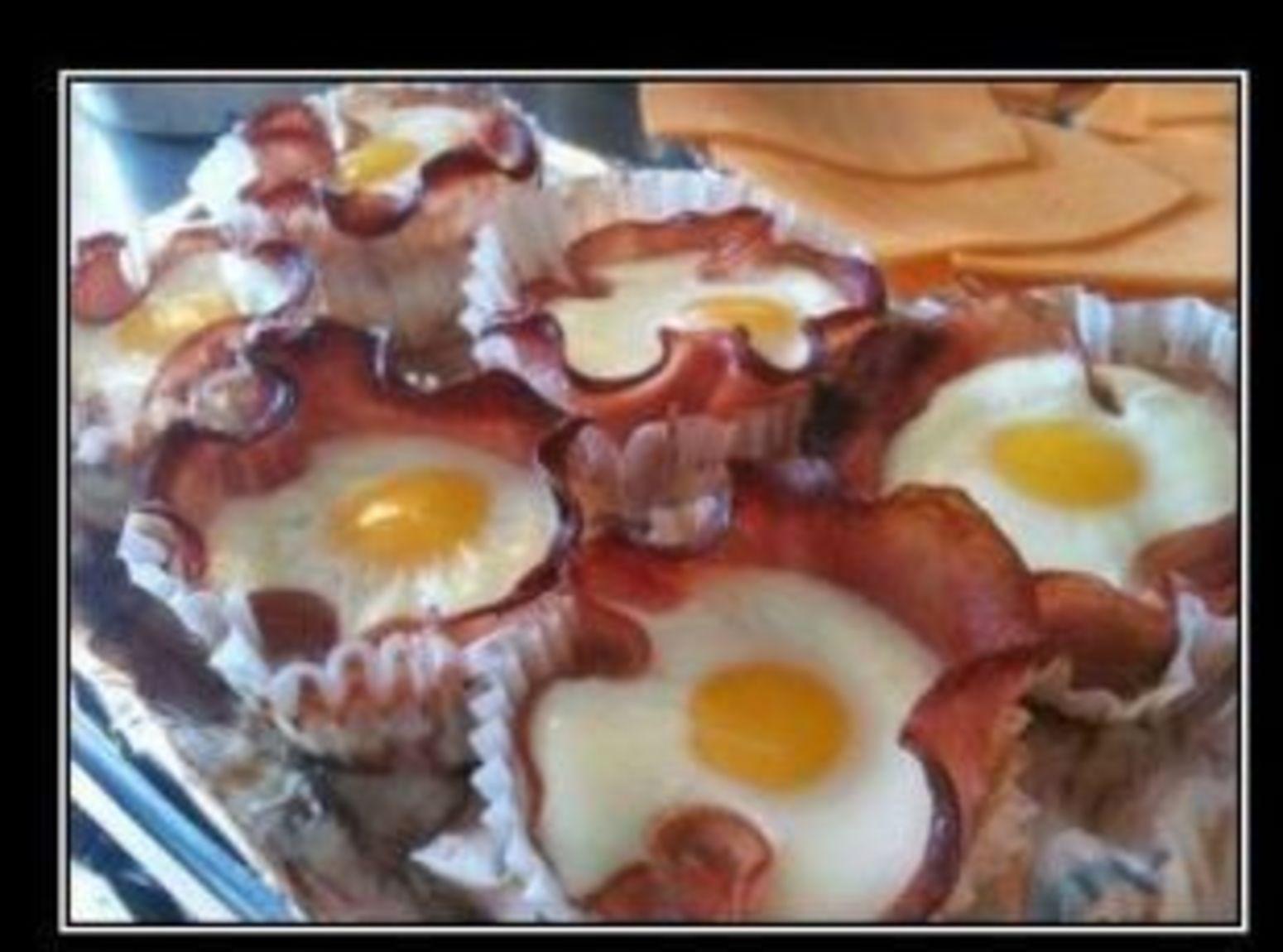 Bacon and Egg Cupcakes Recipe