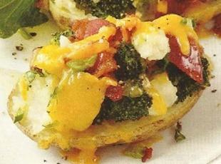 Broccoli-Cheddar Potatoes Recipe