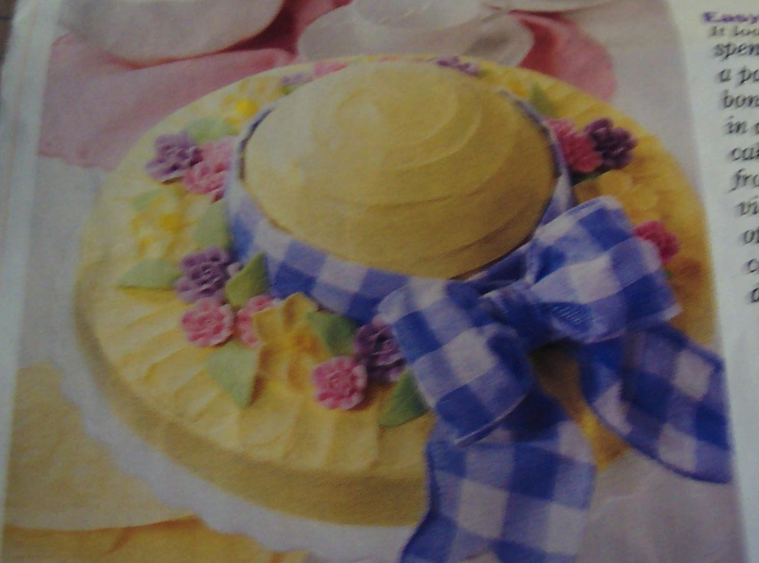 EASTER  BONNET  CAKE -  easy cake mix Recipe