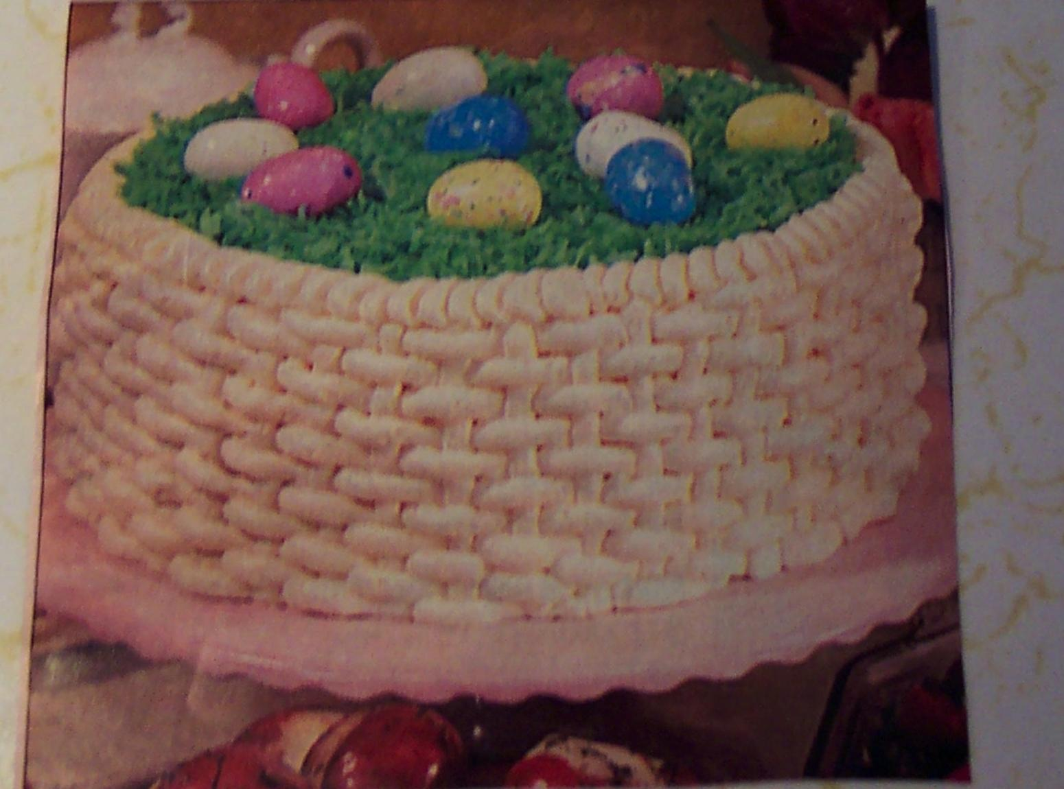 EASTER BASKET... 3-layer cake Recipe