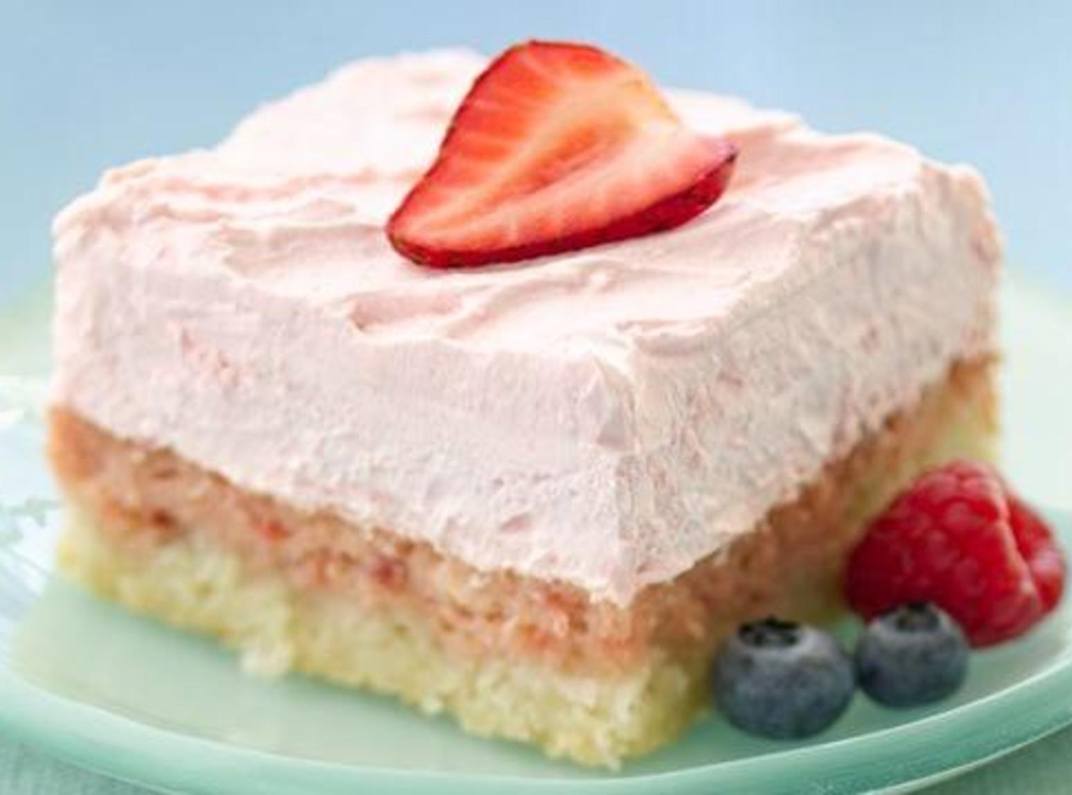 DIABETIC-FRIENDLY  EASY STRAWBERRY CREAM SQUARES Recipe