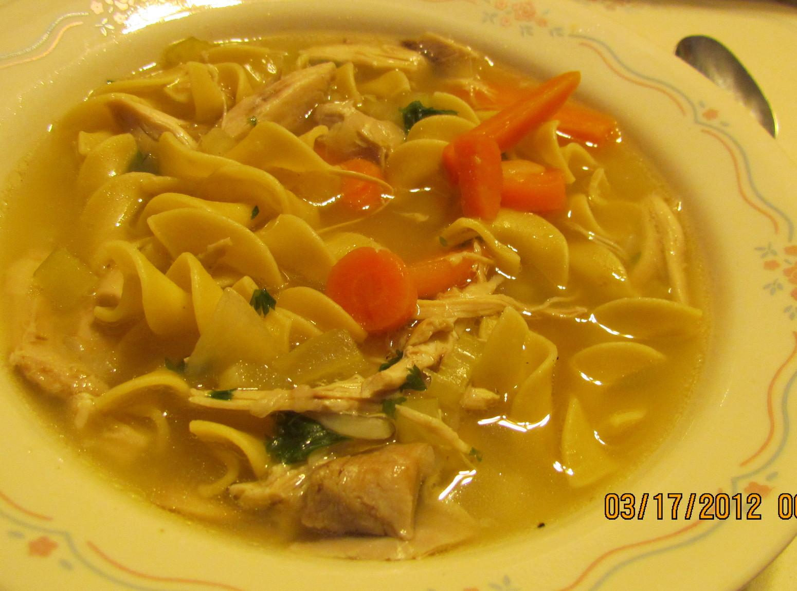 MOM'S CHICKEN  NOODLE SOUP ..   for Rose Recipe