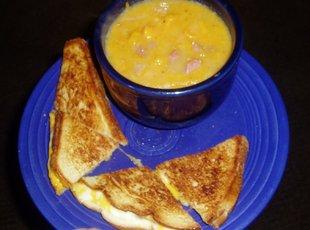 Spiral Ham & Sweet Potato Soup Recipe