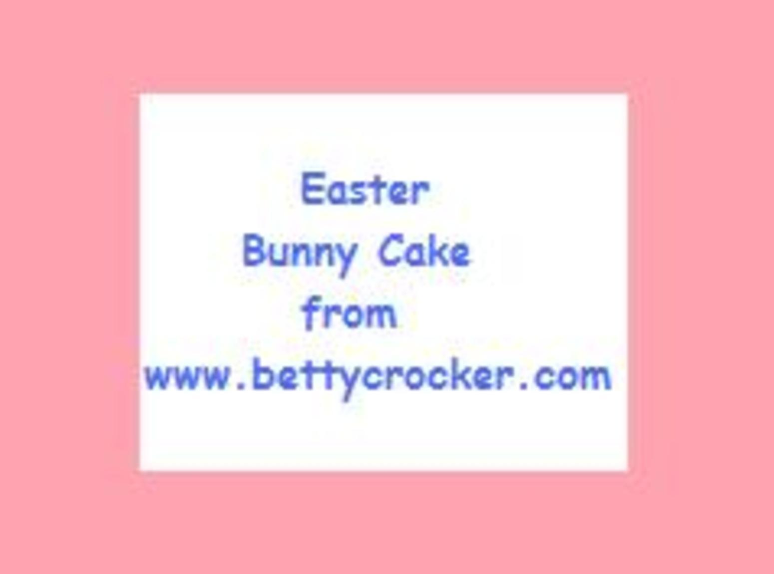 Bunny Bottom Cake for Easter- Betty Crocker Recipe