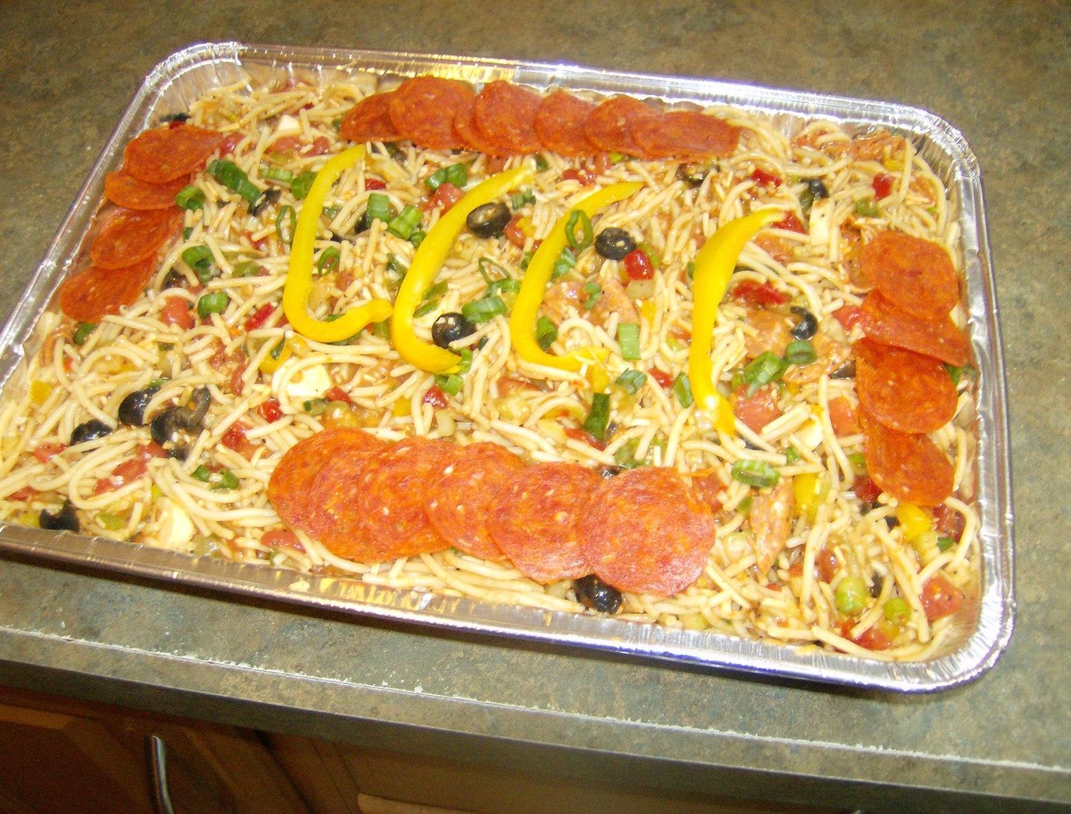 Family Reunion Size Spaghetti Salad Recipe