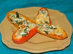 Spinach and Cheese Stuffed Mini Sweet Peppers Recipe