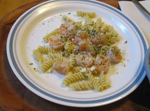 Garlicky Butter Shrimp on Rotini Recipe