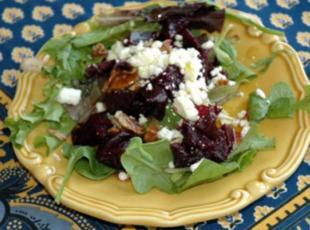 Roasted Beet, Goat Cheese and Pecan Salad Recipe
