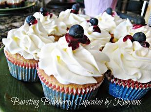 Bursting Blueberry Cupcakes~Robynne Recipe