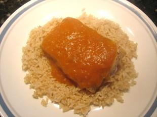 Grilled Salmon W/ Peach Bourbon BBQ Sauce Recipe