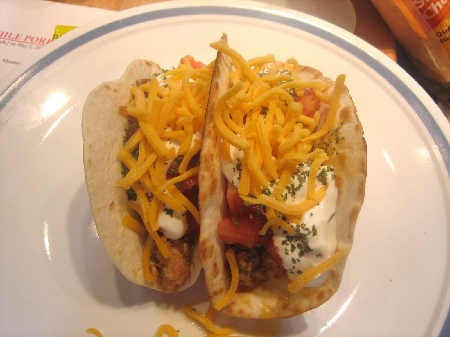 Crock Pot Green Chile Pork Tacos Recipe