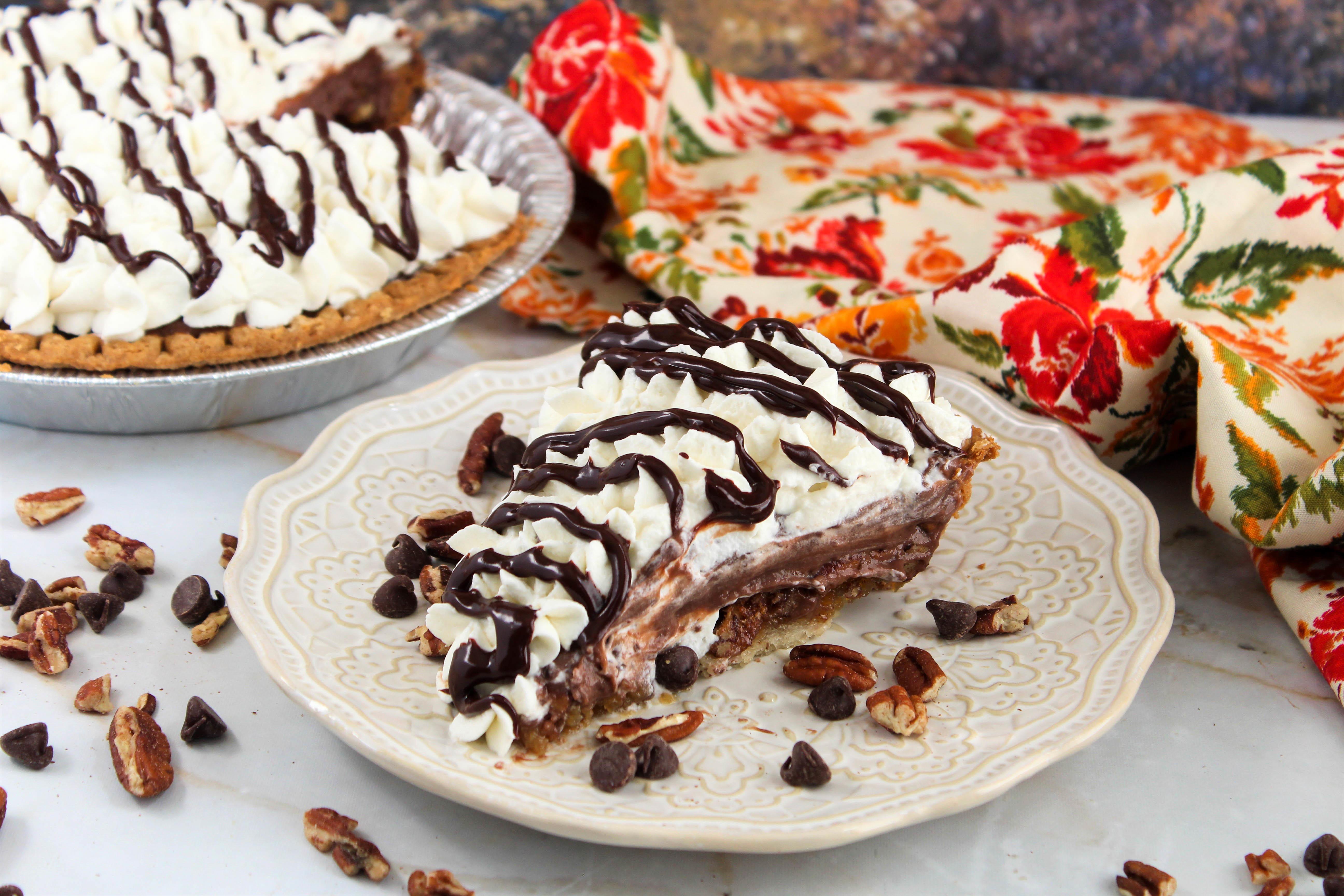 Chocolate Pecan Pie With Chocolate Pudding Recipe