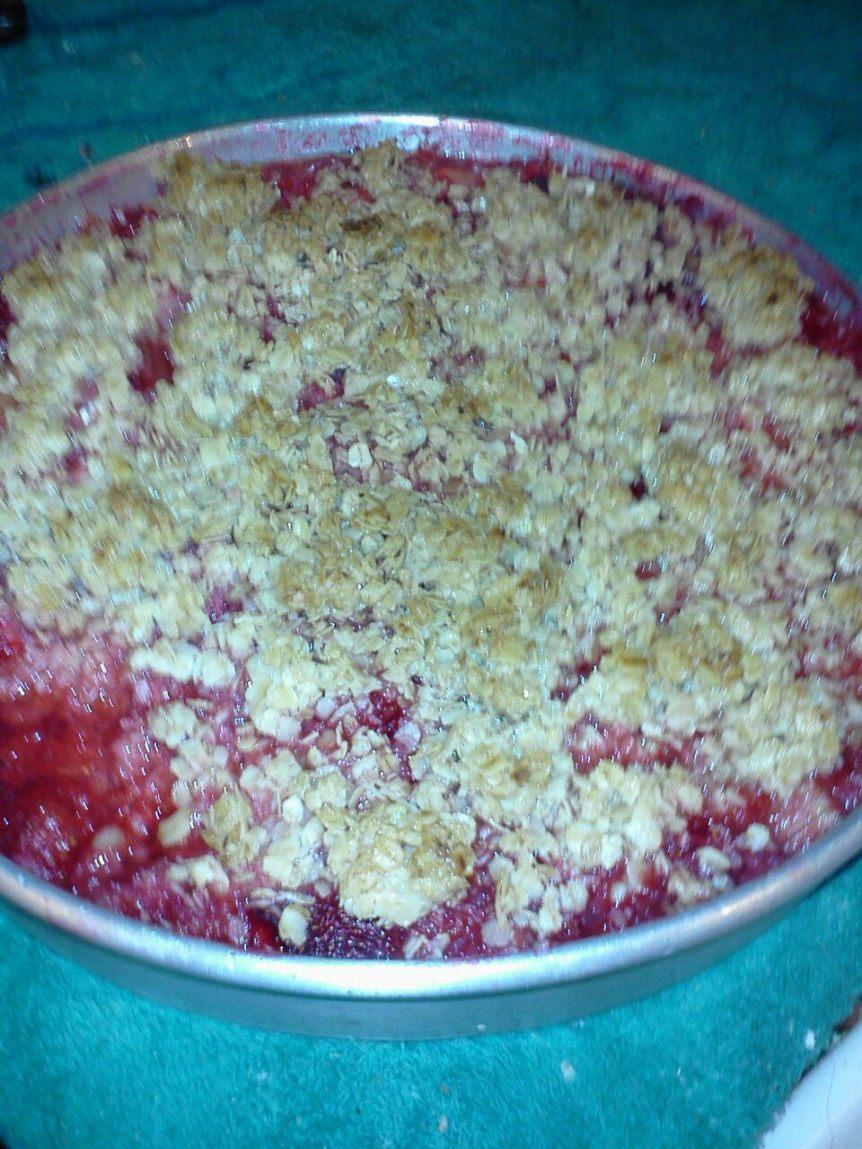 Diabetic Strawberry/Rhubarb Crisp Recipe
