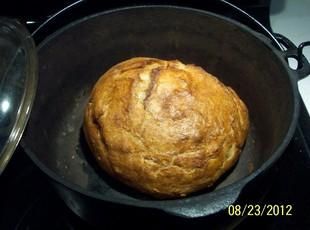 CRUSTY BREAD      over night & no kneading! Recipe