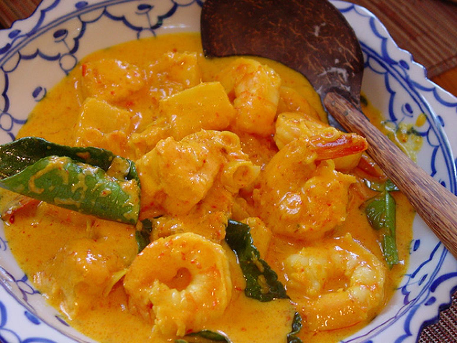 Thai Coconut Red Curry with Shrimp Recipe | Just A Pinch Recipes