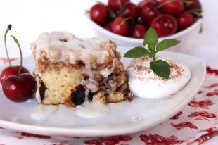 Cherry Pecan Cinnamon Roll Cake-Annette's Recipe