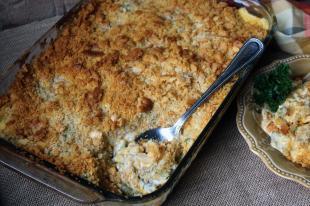 Cheesy Corn and Green Bean Casserole Recipe
