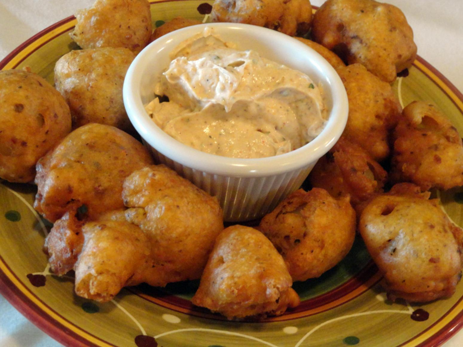 Deep Fried Onion Balls with Cajun Ranch Sauce Recipe
