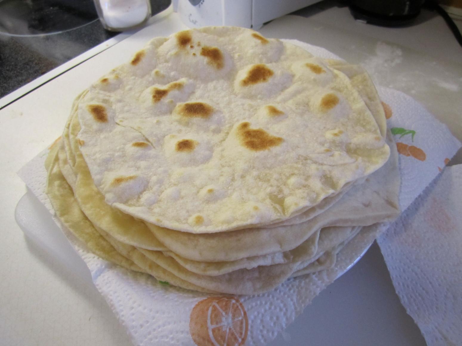 home made flour tortillas Recipe