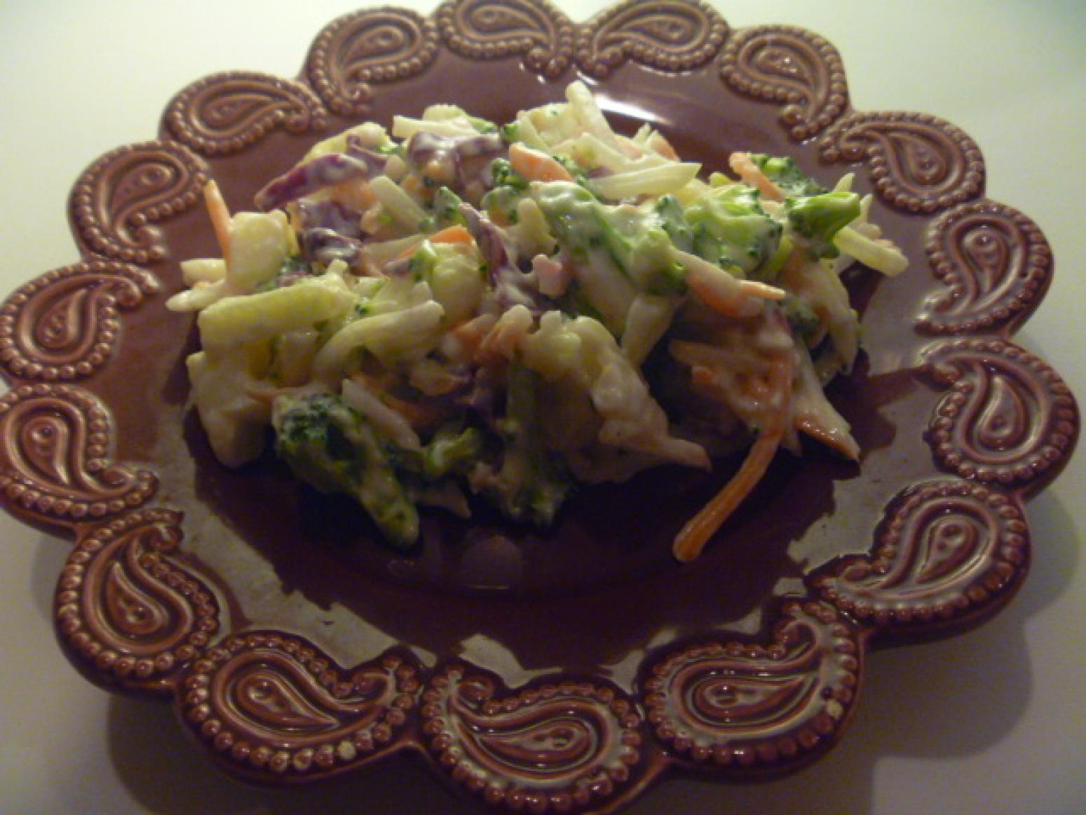 Kim's Coleslaw Broccoli style Recipe