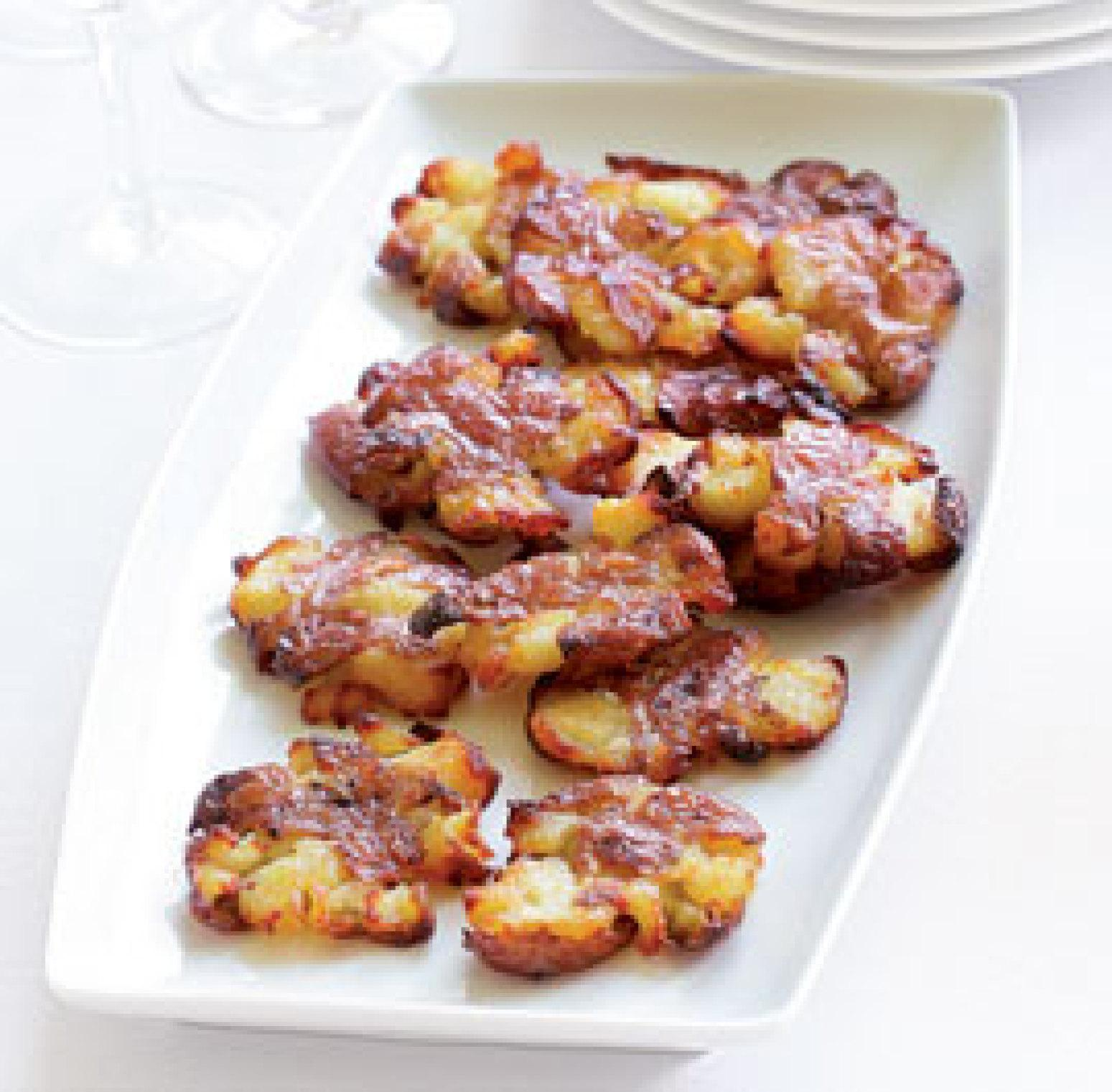 Crispy Flattened Potatoes Recipe