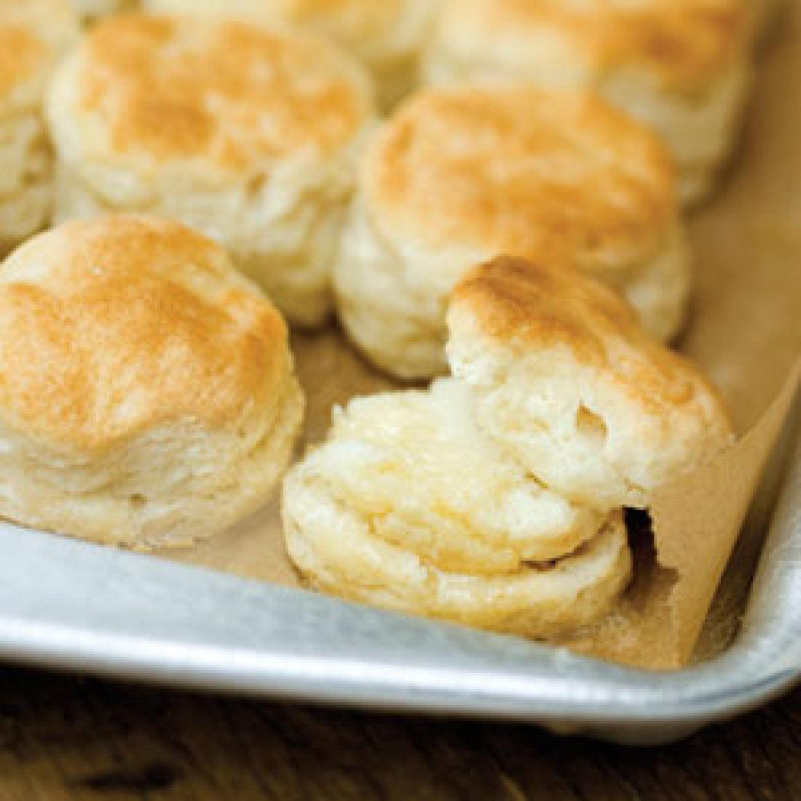 These buttermilk biscuits are authentic. This recipe came from my great-great-grandmother, and was handed down to all the women in my family, and we are all Southern. I am the first one to commit the sin of using a food processor (lol) but I find it works very well. I would put these biscuits .