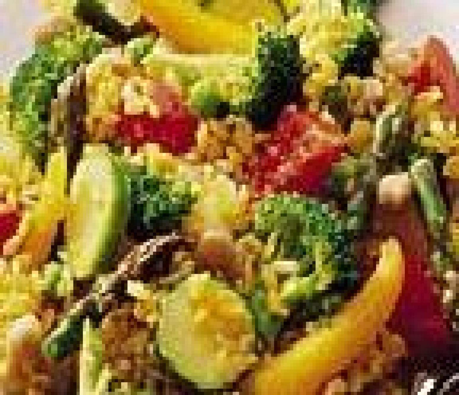 Saffron Vegetable Paella Recipe