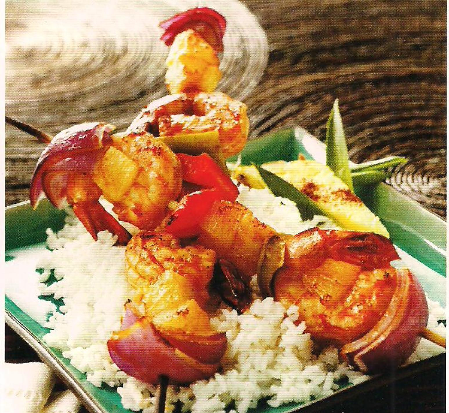Chipotle shrimp and pineapple kebabs Recipe