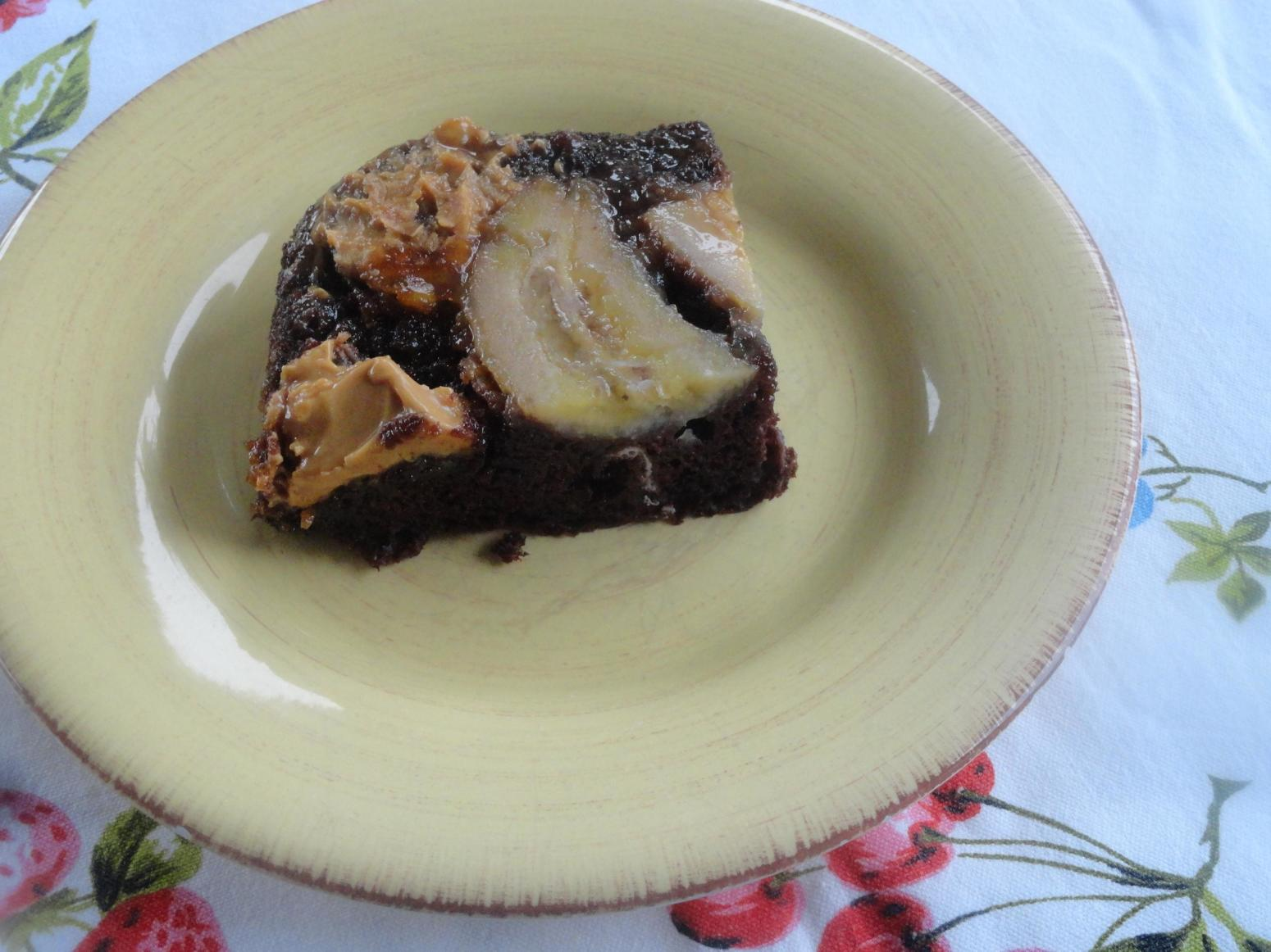 CHOCOLATE PBJ BANANA  UPSIDE DOWN DUMP CAKE Recipe