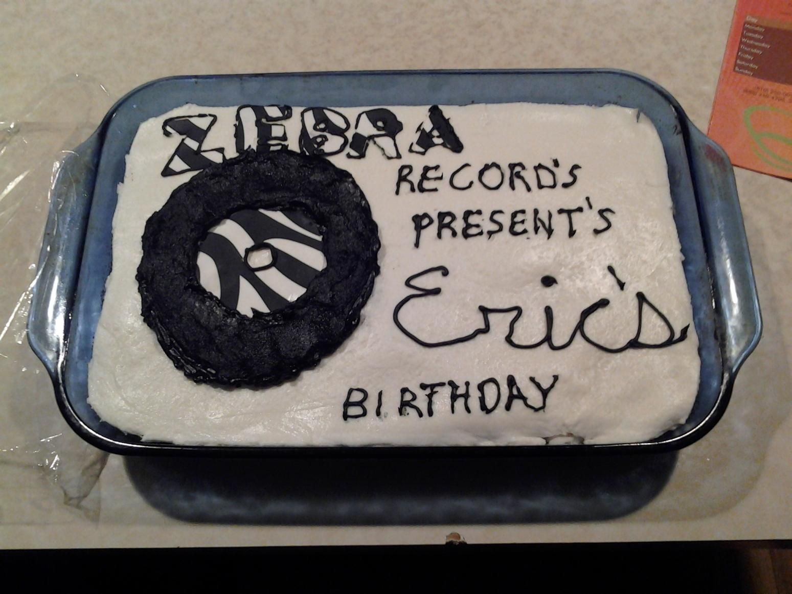Eric's Birthday Cake Recipe