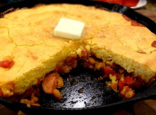 BEANS AND WEINERS BUTTERMILK CORNBREAD -- BONNIE'S Recipe