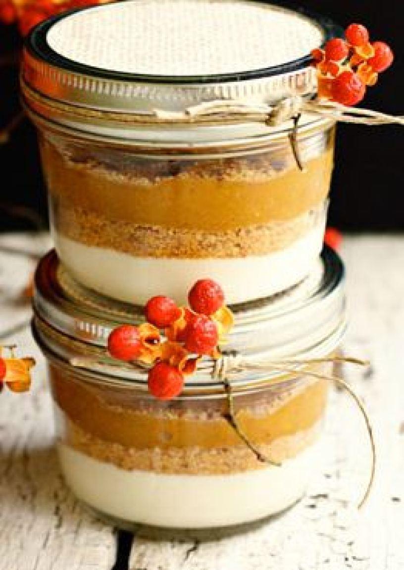 Layered Pumpkin Pie  in a jar Recipe